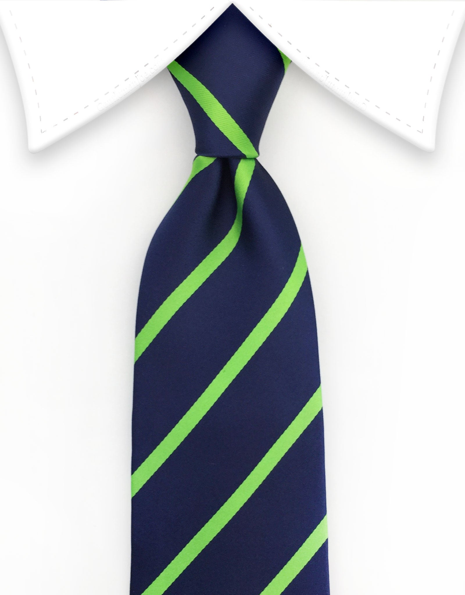 Navy & Lime Green Tie