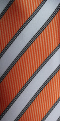 orange and white tie swatch