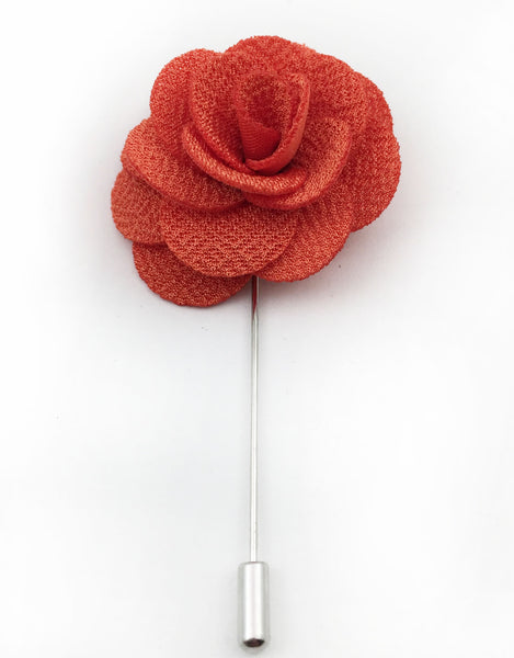 Orange Flower Lapel Pin