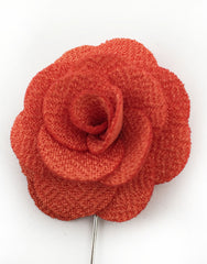 Tangerine Flower Lapel Pin