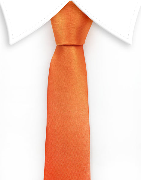 Orange Skinny Necktie