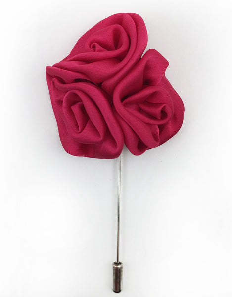 Raspberry Flower Lapel Pin