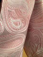 Blush Pink and Rose Gold Paisley Extra Long Tie - 3XL