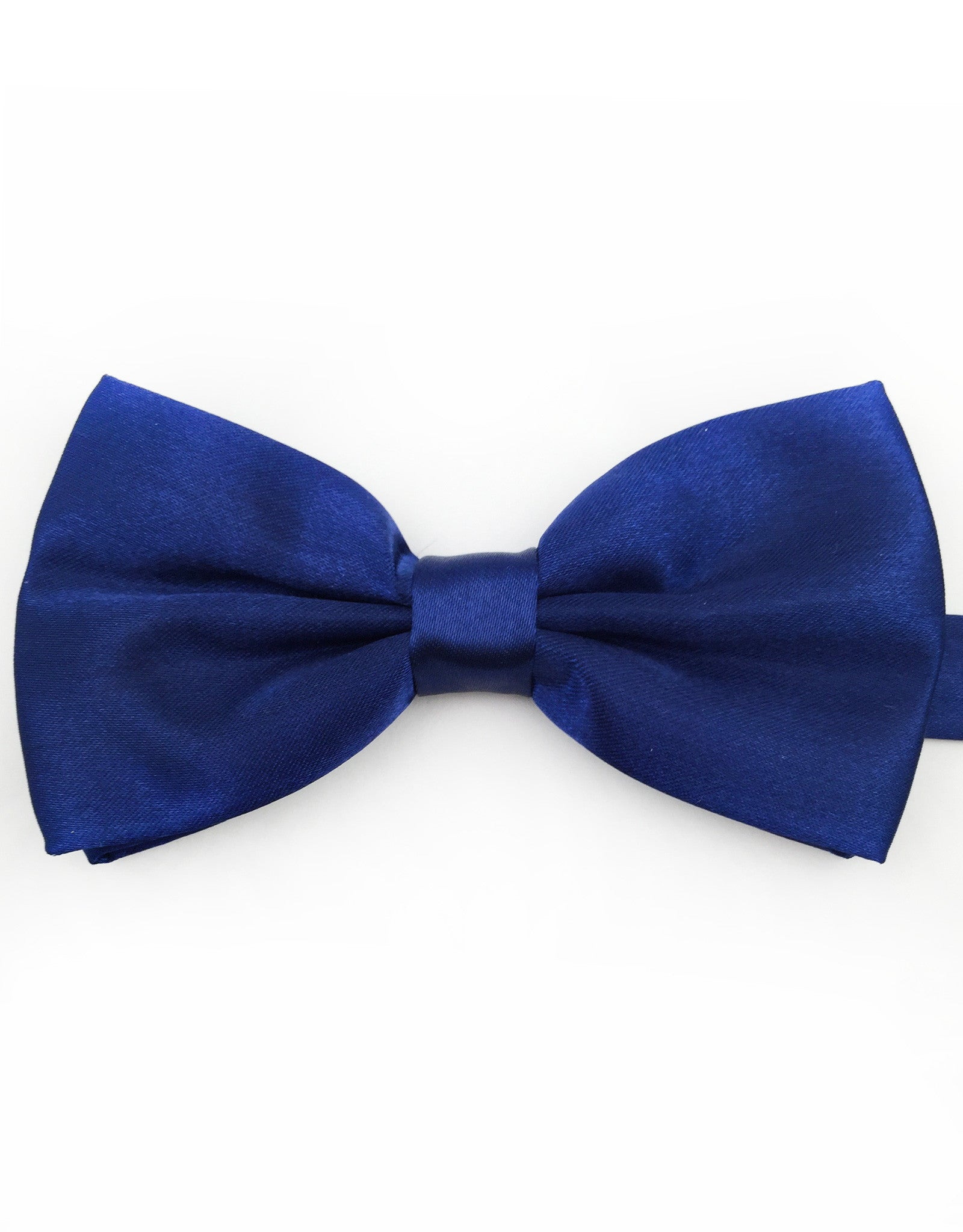 Navy Blue Satin Bowtie