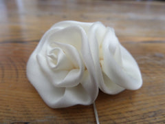 white flower broach