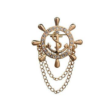 Captains sailors anchor helm pin