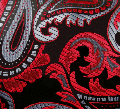 red paisley pocket square hanky