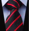 Black Dotted Tie with Red Stripes