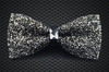 Crystal Charcoal Bow Tie