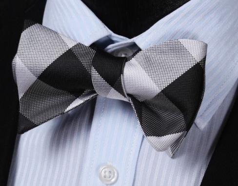 Black & White Bowtie & Pocket Square