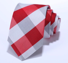 Red White Narrow Tie