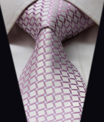Light Pink Silk Tie