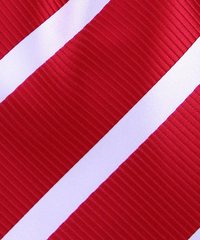 Red & White Stripe Tie Swatch
