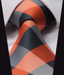 Orange & blue tie