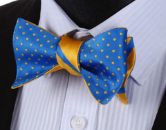 Blue & Yellow bow tie