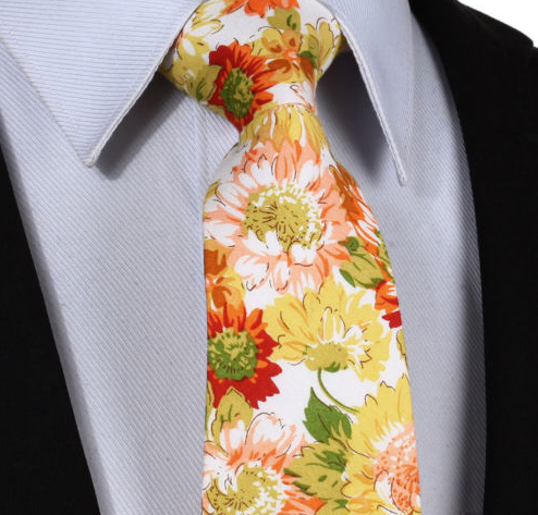 Yellow & Orange Flower Tie