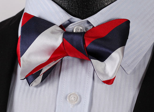 Red, White and Blue Bow Tie