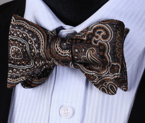Brown Silk Bow Tie