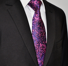 pink & purple necktie