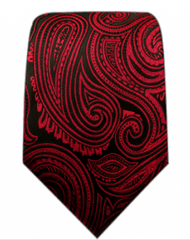 Red paisley necktie