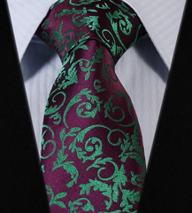purple and green necktie