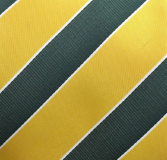 Gold and Green Striped Necktie