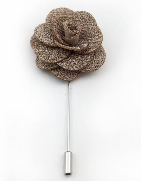 Taupe Lapel Flower