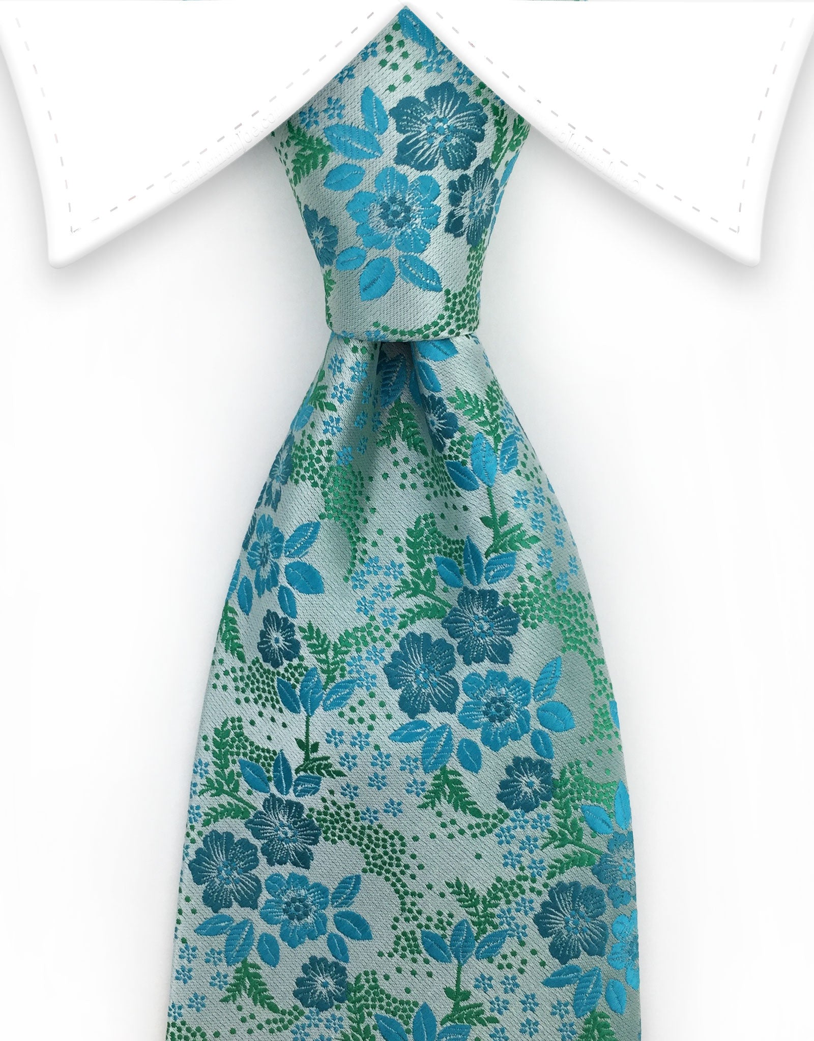 a775f0ed4014 Seafoam Green & Turquoise Floral Tie