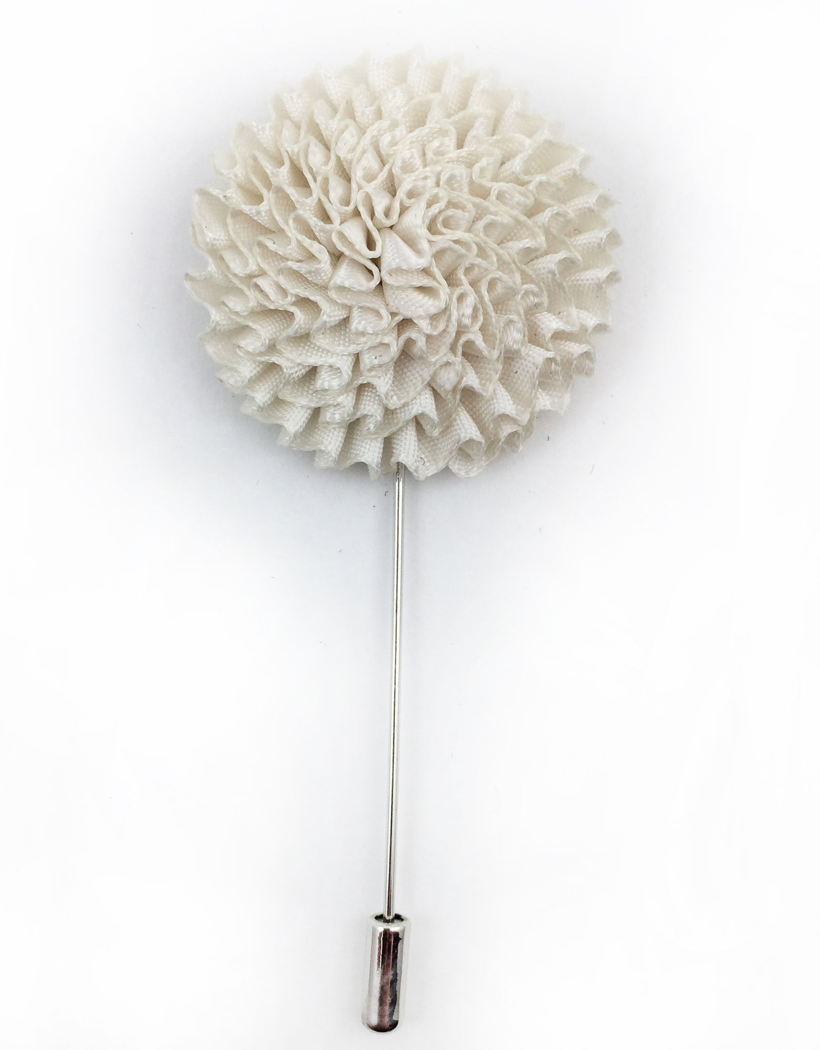 Men's White Flower Lapel Stick Pin