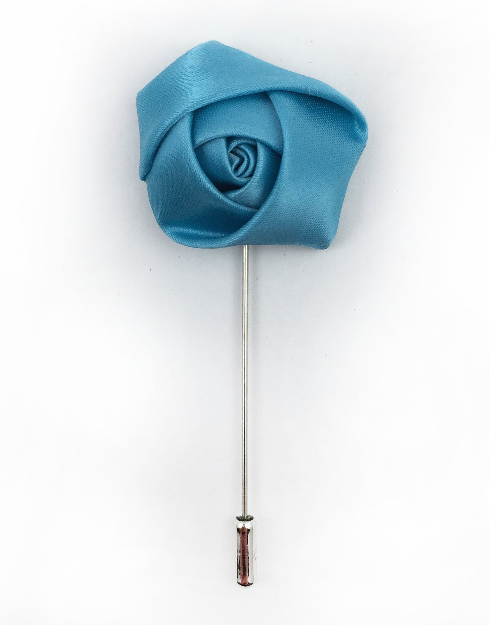 Men's Turquoise Flower Lapel Pin