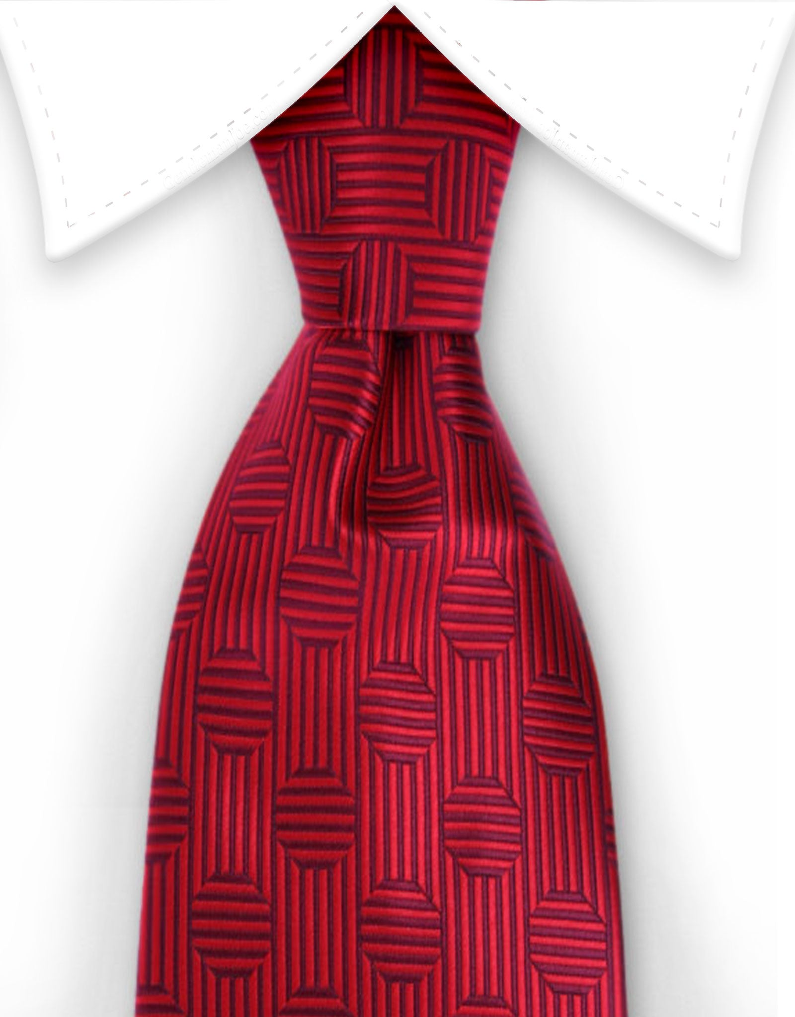 Red tie with circles