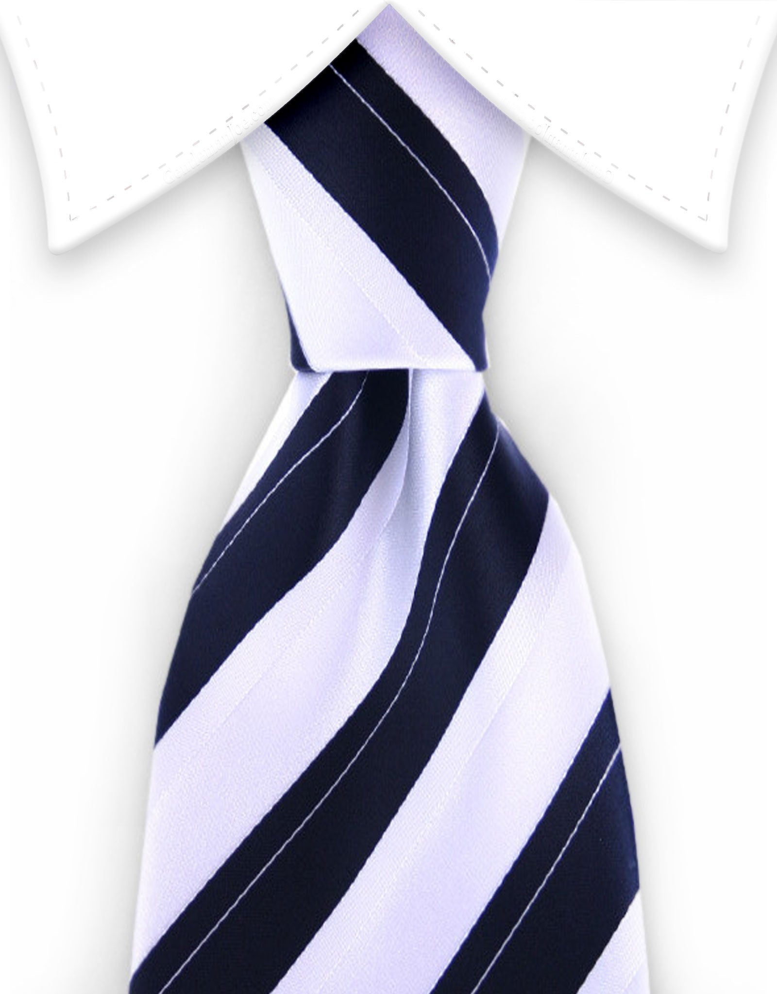 white black wide striped tie