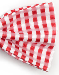 Red and White Gingham Bow Tie