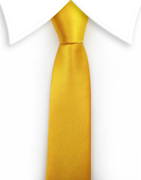 Yellow Satin Skinny necktie