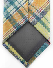 Yellow, Orange & Green Plaid Mens Tie