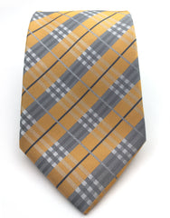 Apricot and Gray Plaid Tie