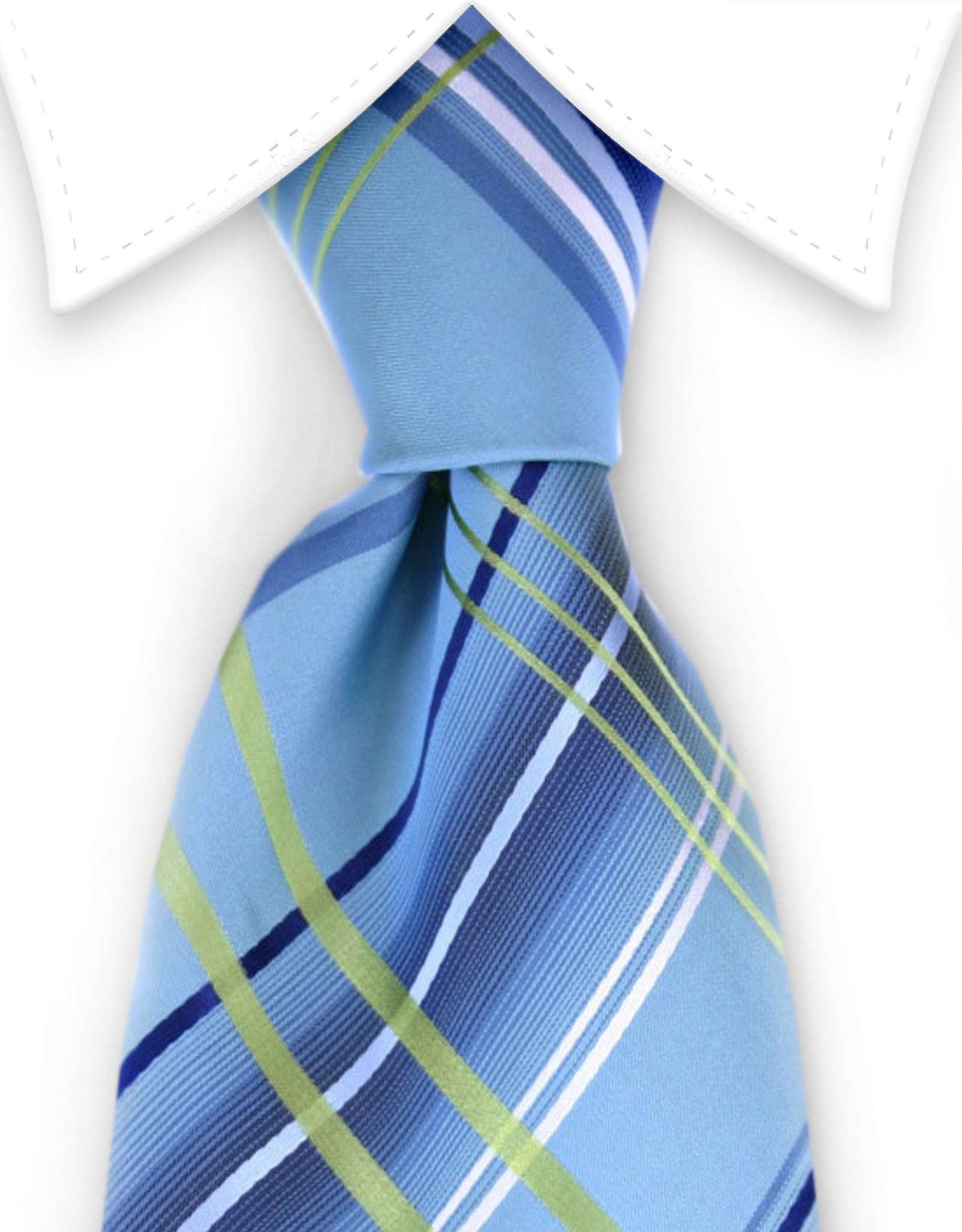 aqua green plaid tie