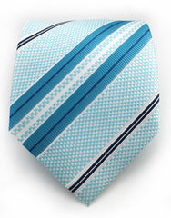 Turquoise & Teal Striped Tie