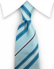 Turquoise Blue Teal Tie