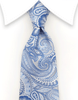 Light Blue Paisley Ties