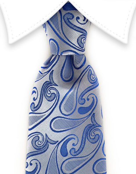 light blue paisley tie