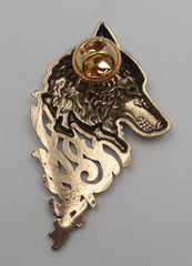 back of wolf pin