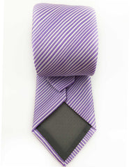 back of lilac striped tie