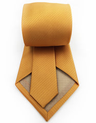 back view - gold orange tie