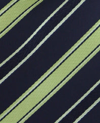 Green & Black Striped Tie