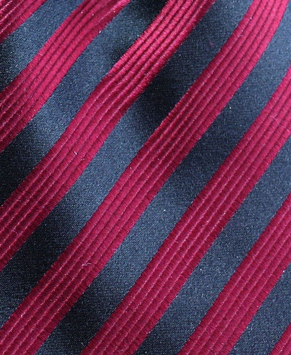 Red & Black Striped Silk Hanky