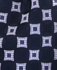 Black and Silver Motif Necktie