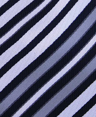 Black, White & Silver Striped Tie