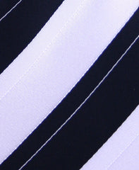 Black & White Striped Necktie