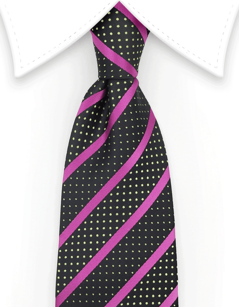 Black and pink tie